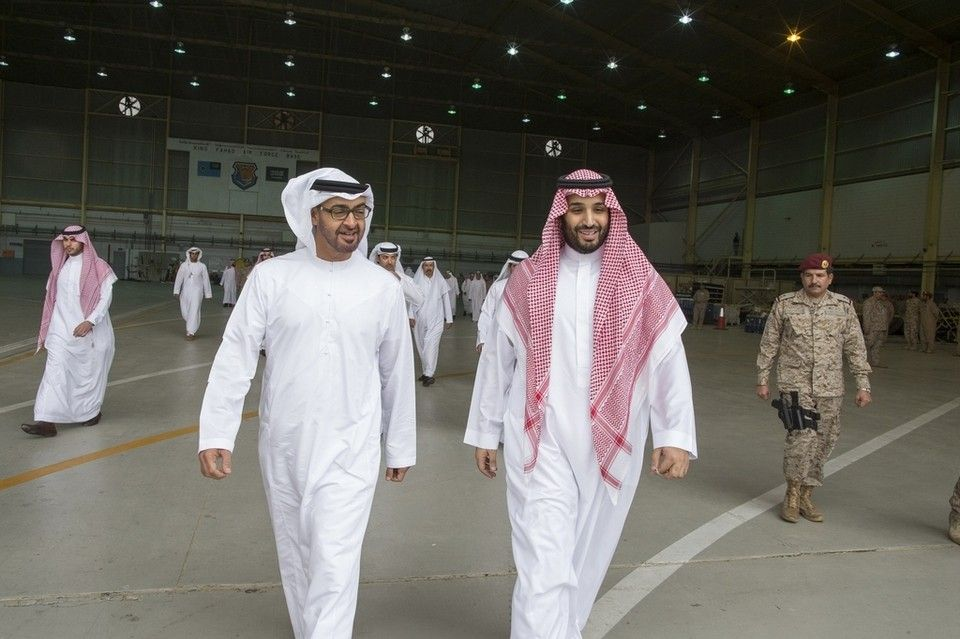 Image result for Mohammed bin Zayed and Mohammed bin Salman
