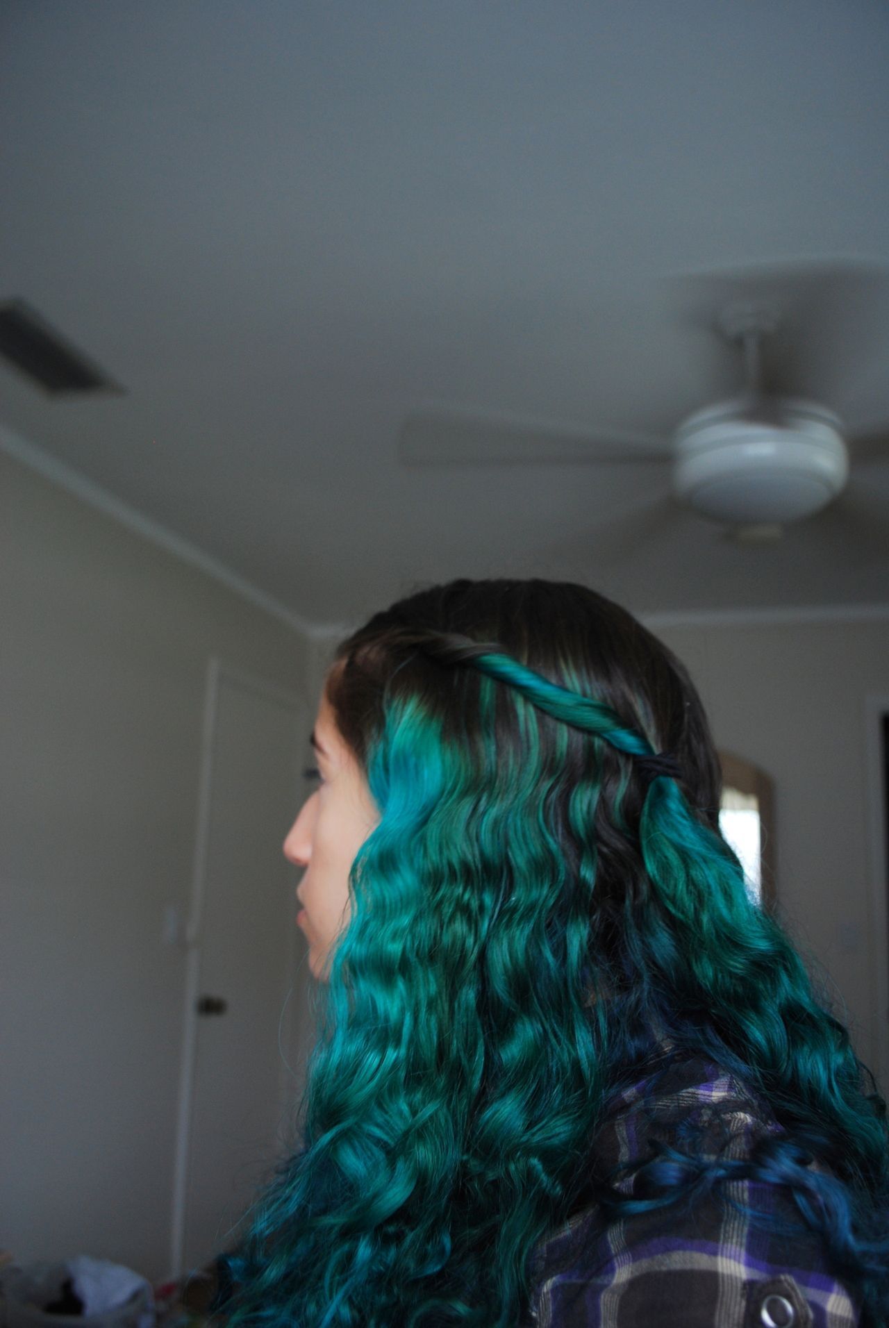 dip dye hair teal wwwimgkidcom the image kid has it