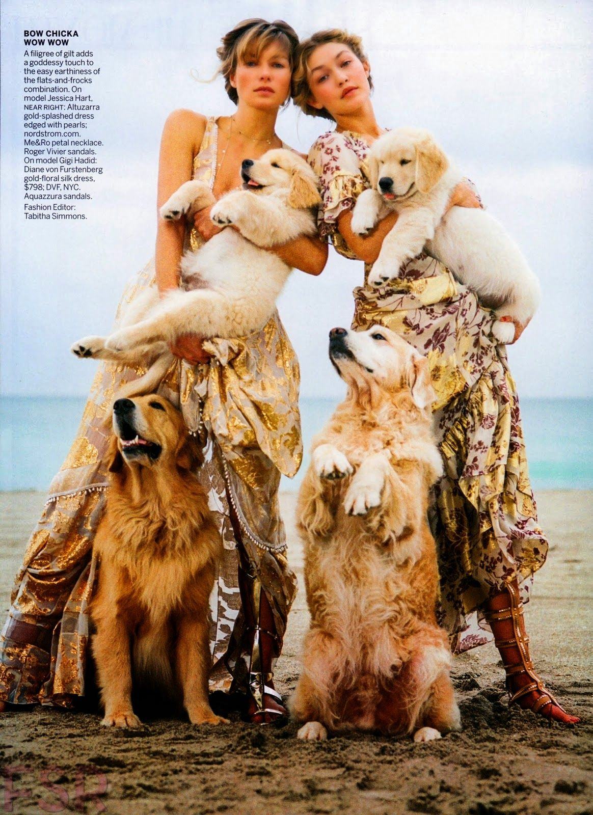 Fashion Model @ Gigi Hadid, Andreea Diaconu and Jessica Hart by Bruce Weber for Vogue US April 2015