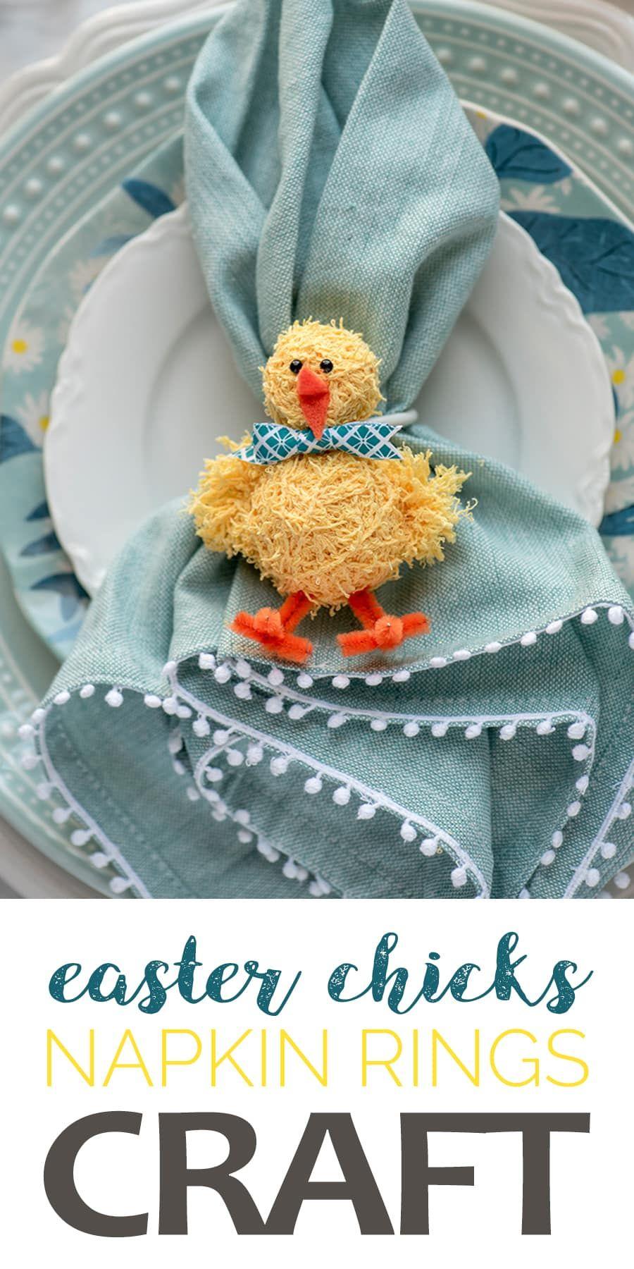 DIY Easter Napkin Rings Easter napkins rings, Easter