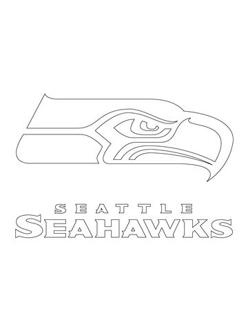 seattle seahawks logo coloring page