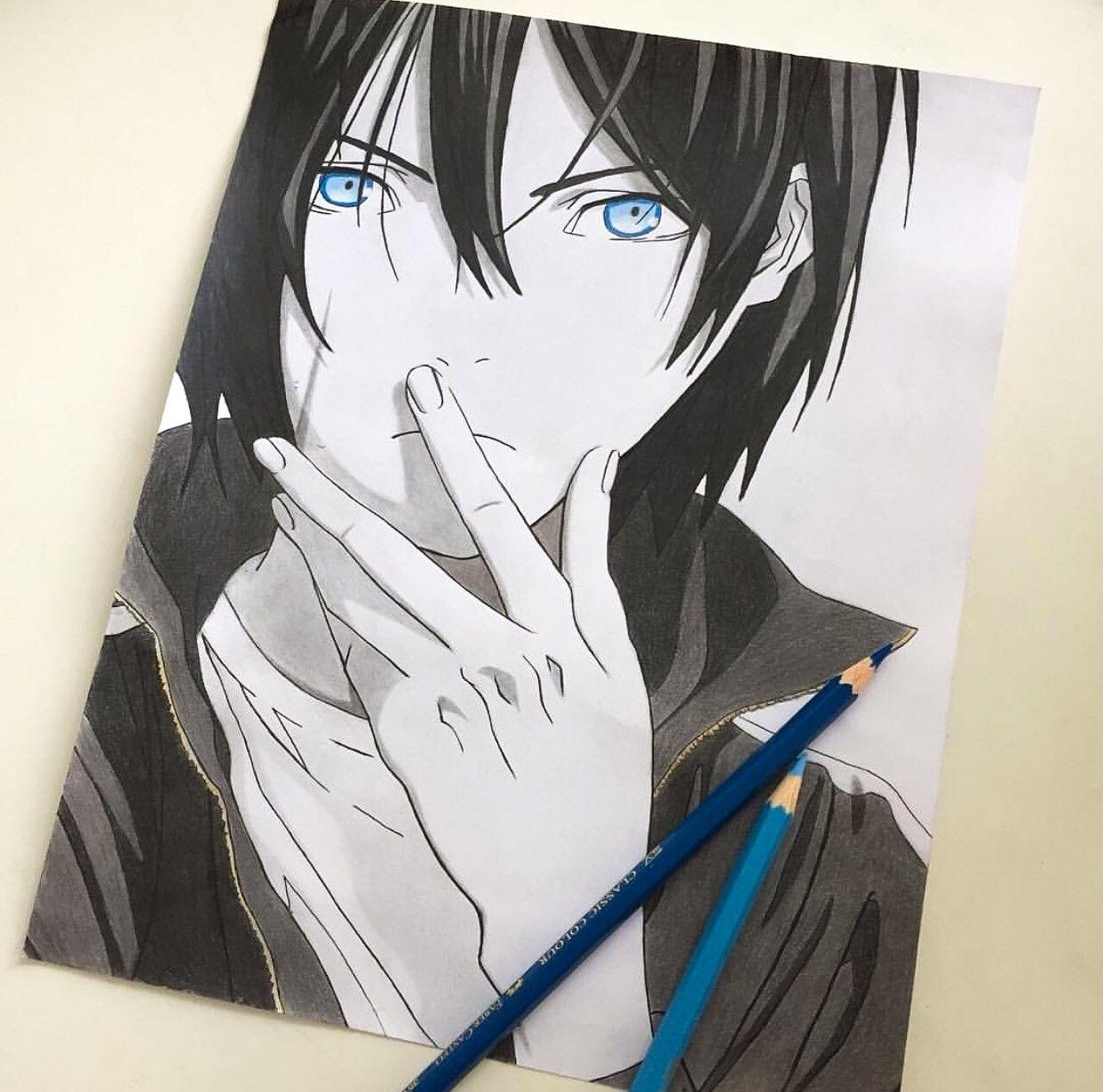 Картинки ято из аниме бездомный бог для срисовки