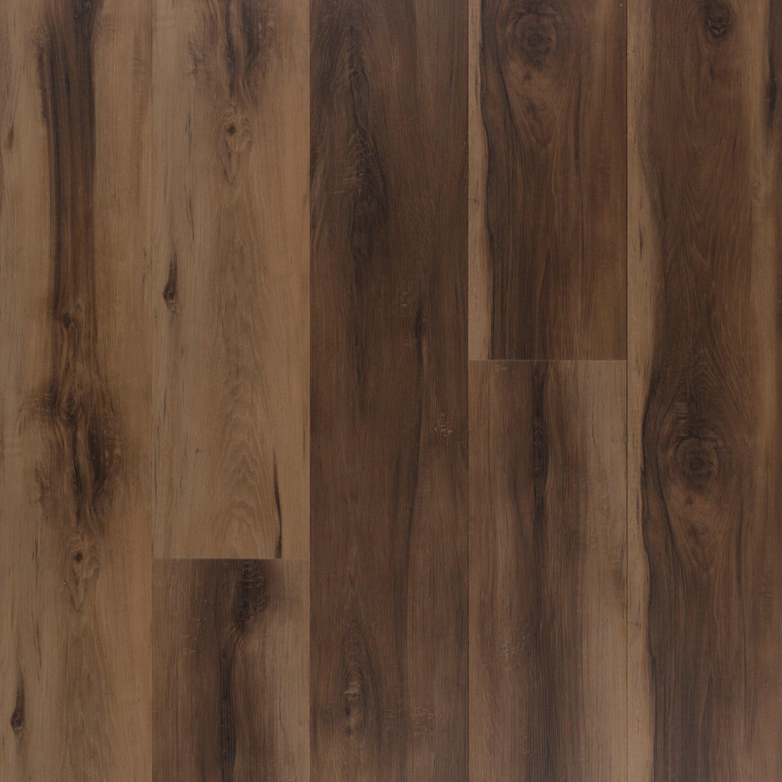 Spalted Walnut Rigid Core Luxury Vinyl Plank Cork Back