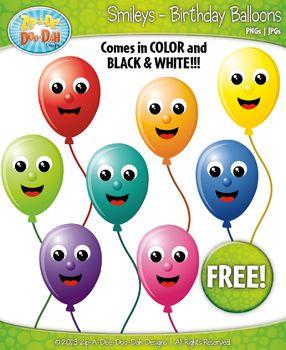free birthday balloon face smiley clipart set faces emotio rh pinterest co uk Sunshine Smiley Face Clip Art Animated Smiley Face Clip Art