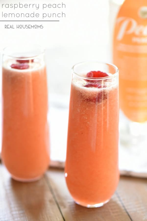 Raspberry Peach Lemonade Punch