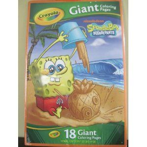 Cool Oversized Coloring Pages Crayola Giant Coloring Pages Spongebob Squarepants Toys Games Spongebob Coloring Crayola Coloring Pages Spongebob