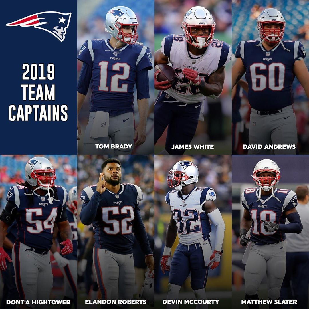 Your Patriots 2019 Team Captains Have Been Revealed Best Football Players New England Patriots James White