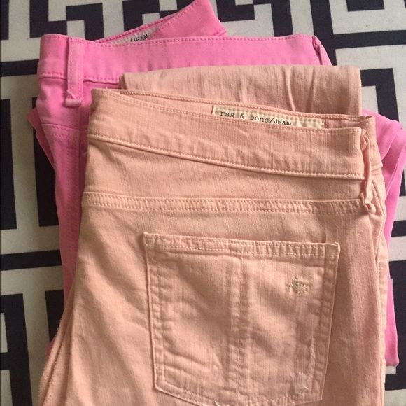Pastel pants Have been worn plenty of times but still can use a good home. rag & bone Pants Skinny