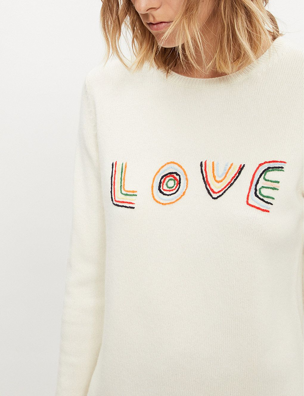 35a522b2 CHINTI AND PARKER - Love embroidered cashmere and wool-blend jumper |  Selfridges.com