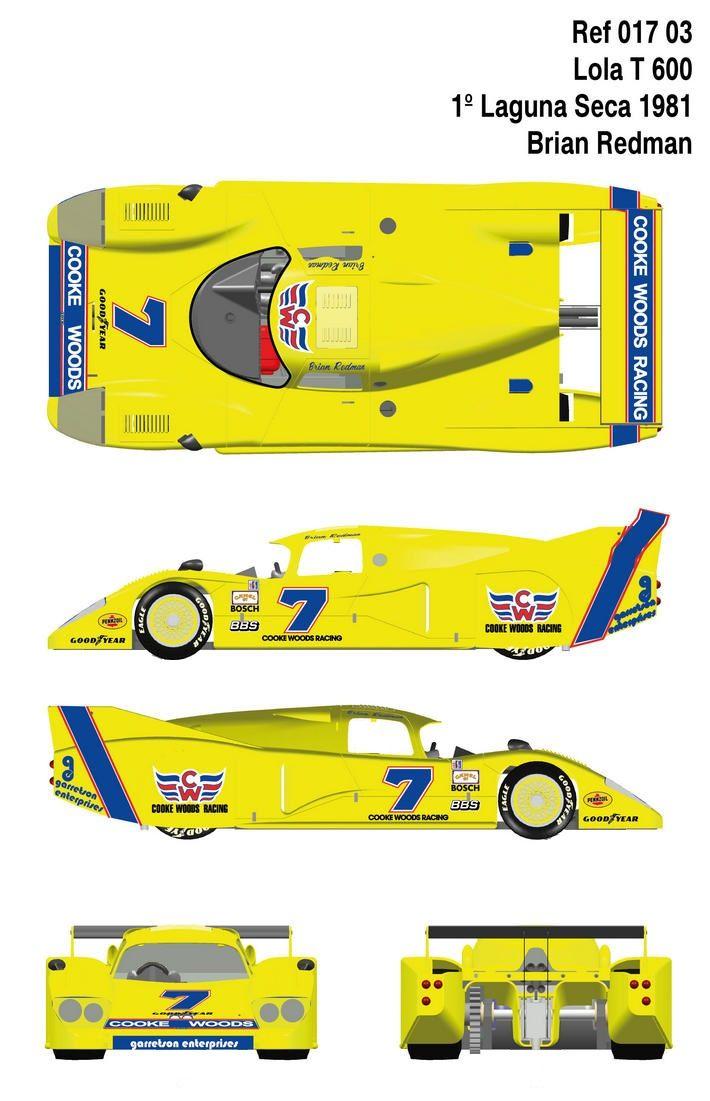 Lola T600 | Racing Car blueprint | Pinterest