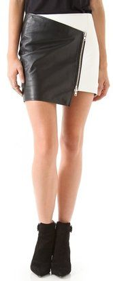 ShopStyle: shopbop.comNicholas Leather Zip Skirt