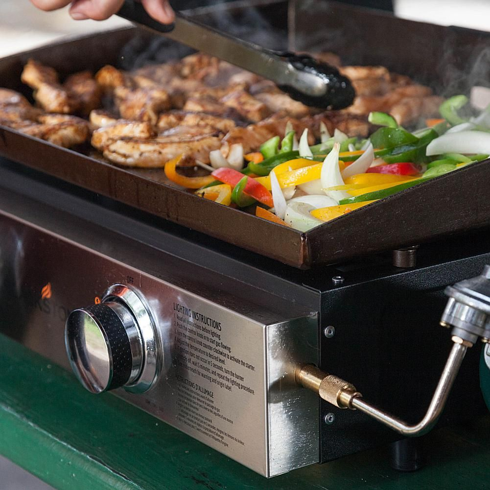 Blackstone Portable Outdoor 22 Table Top Gas Griddle With Regulator Propane Adapter Hose Outdoor Table Tops Outdoor Tables Kitchen Appliances