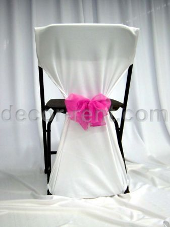 Simple Diy Chair Covers Grey Fabric Back Cover A Pocket Secures The At Top And Hooks Over Two Legs Bottom Tie Can Then Be Wrapped Around