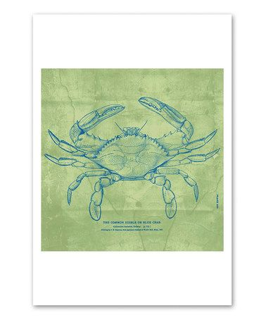 Love this The Common Blue Crab Art Print by Oliver Gal on #zulily! #zulilyfinds