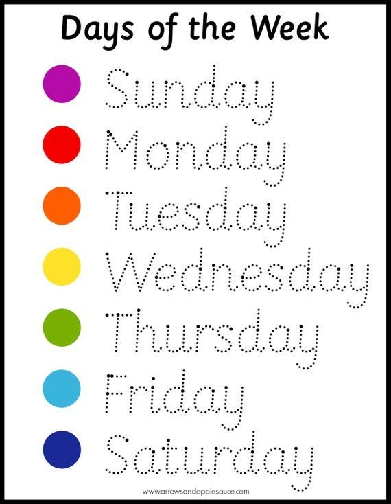 montessori days of the week wheel tracing worksheet. Black Bedroom Furniture Sets. Home Design Ideas