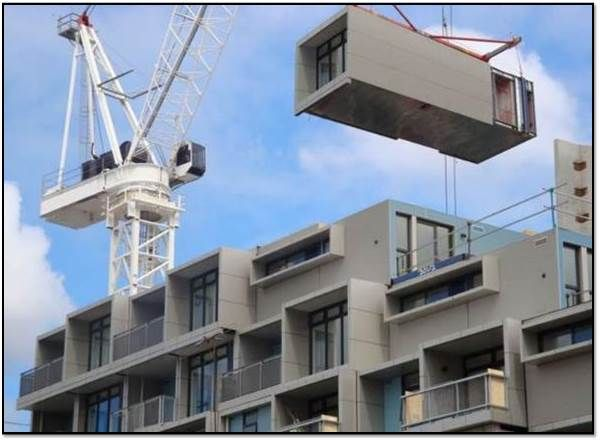 High Rise Prefab Housing Looks To 3d Printing Engineering Com Prefabricated Architecture Building Building Systems