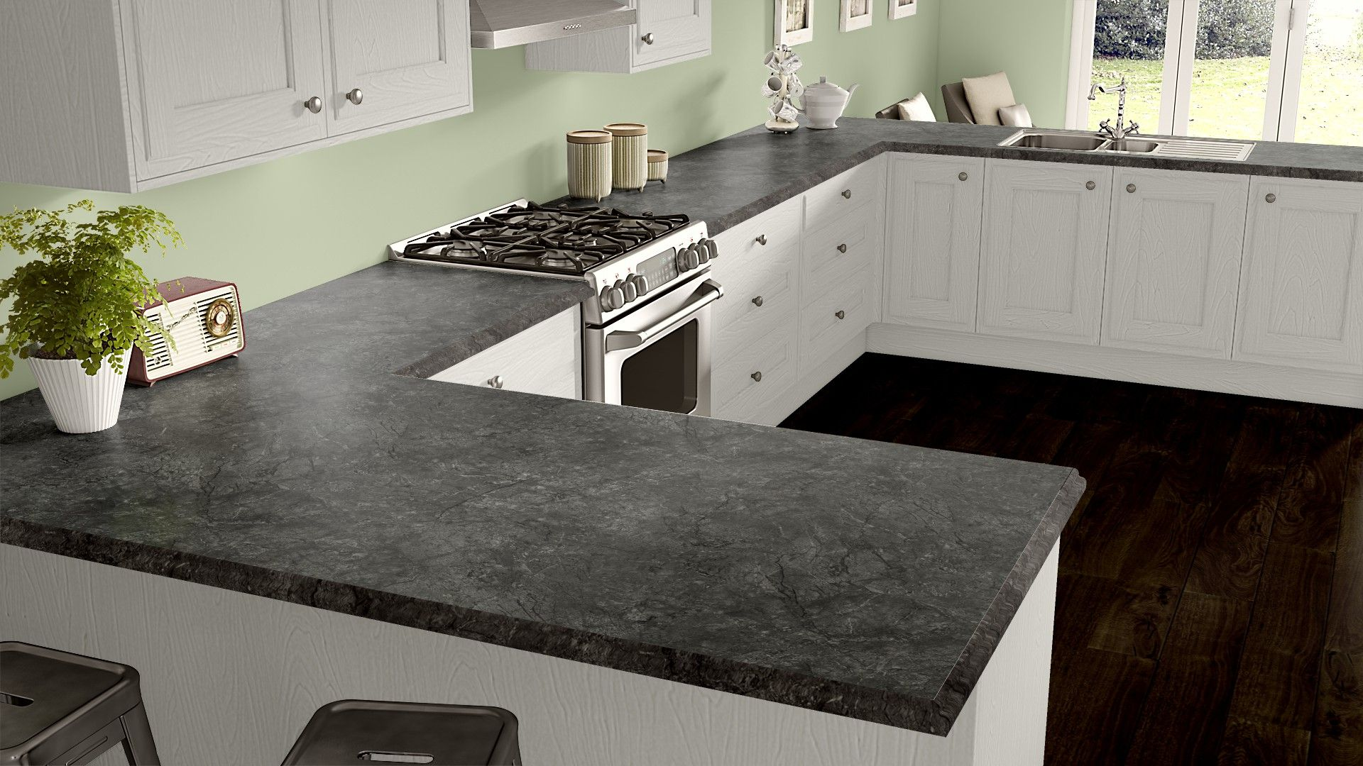 Cabinet White Counter Andorra Shadow Antique Kitchen Renovation Kitchen Remodel Small Kitchen Inspirations