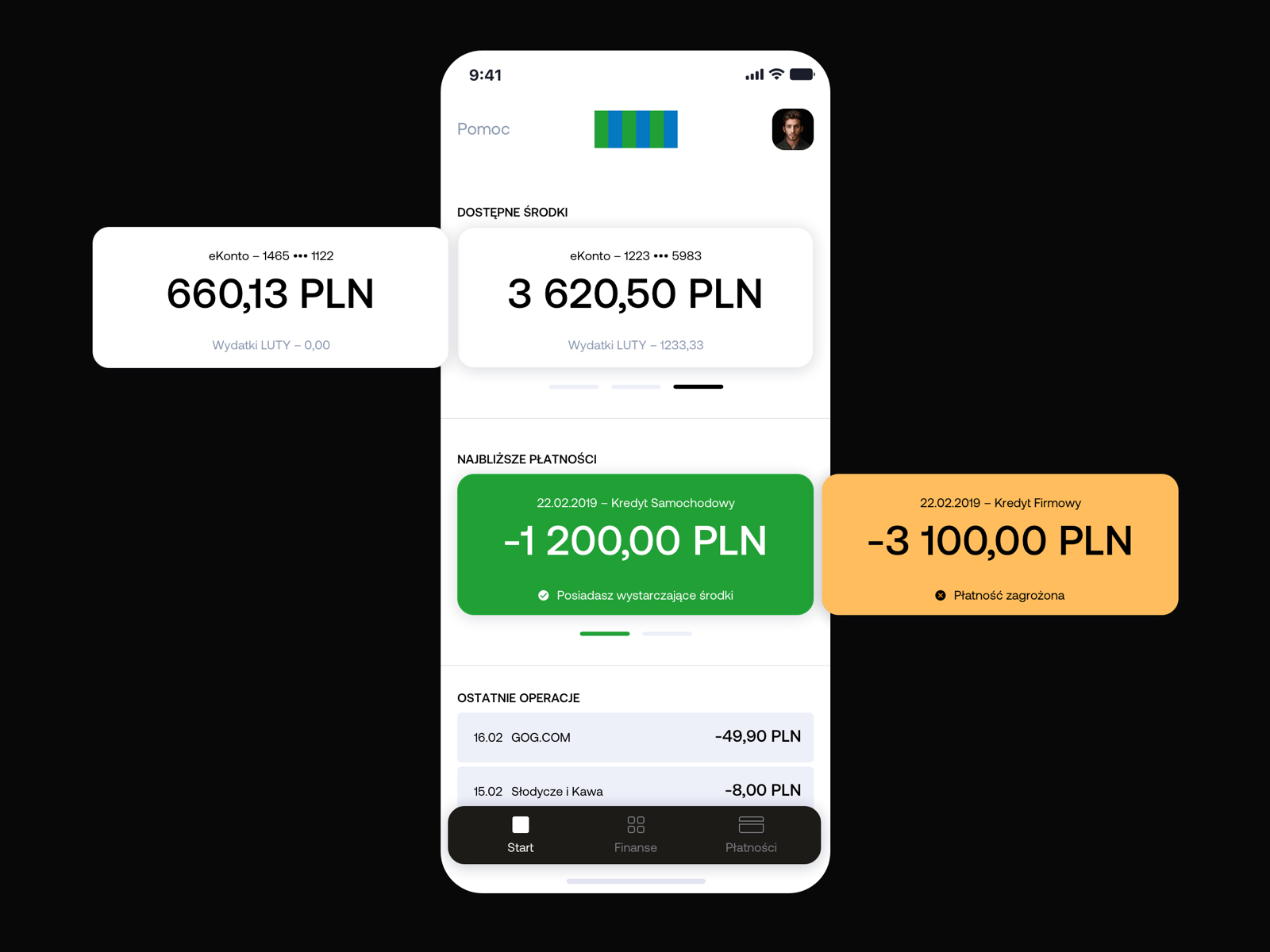 Bank App redesign concept Finance tracker, Monthly