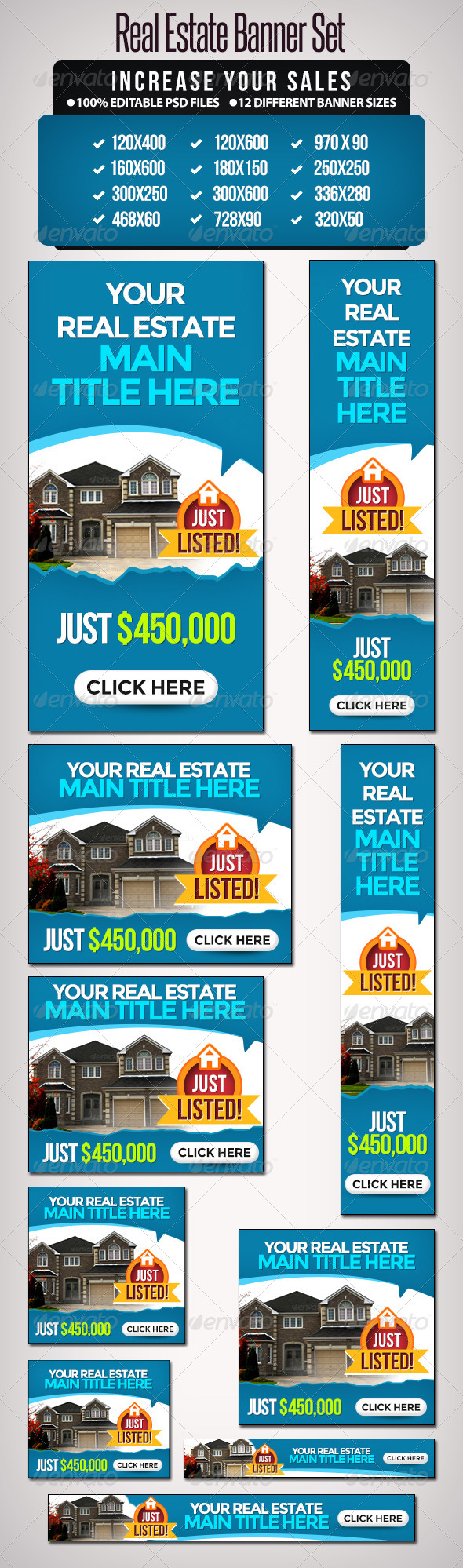 If you need any real estate Google Adword banner. Contact info ...