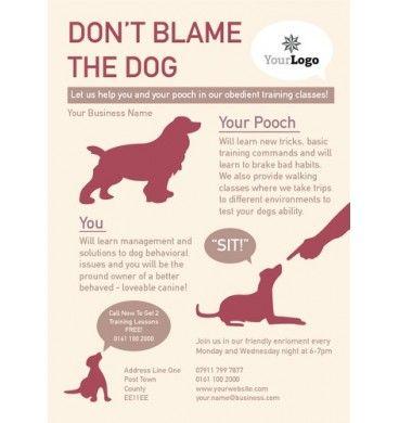 Dog Care A6 Leaflet design #dogs #training #printing #design A6 - missing flyer template