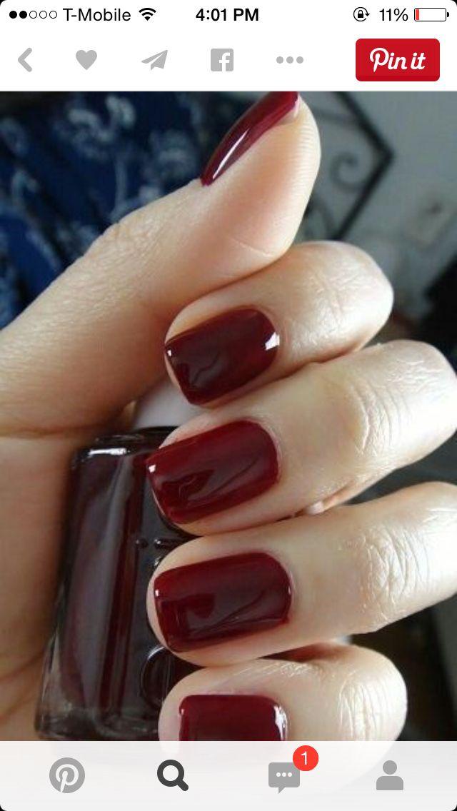 Uñas guindas | Nails | Pinterest | Maquillaje y Belleza