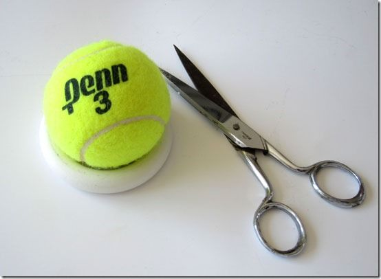 How To Make A Curtain Rod And Finials With A Tennis Ball Curtain