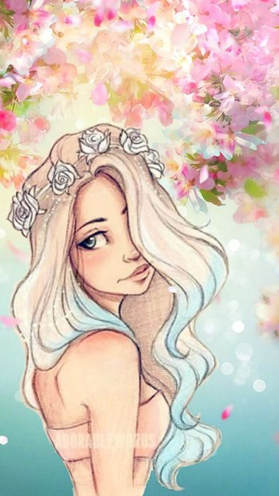 wallpapers for phone iphone Flower Girl hipster