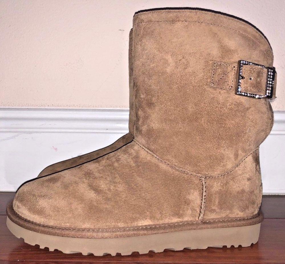 9ff1aa005cb Ugg Australia Womens Chestnut Remora Buckle Boots Size 7 ...