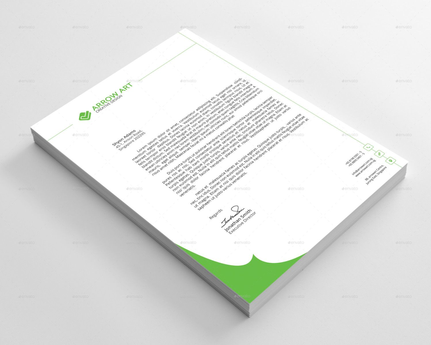 professional letterhead template word