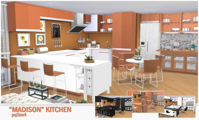 "Sims 4 CC\'s - The Best: Kitchen ""Madison"" by pqSim4 