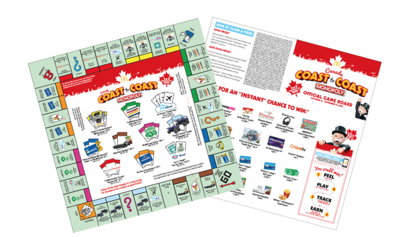 The 2018 Edition of Monopoly is Back at McDonalds Canada
