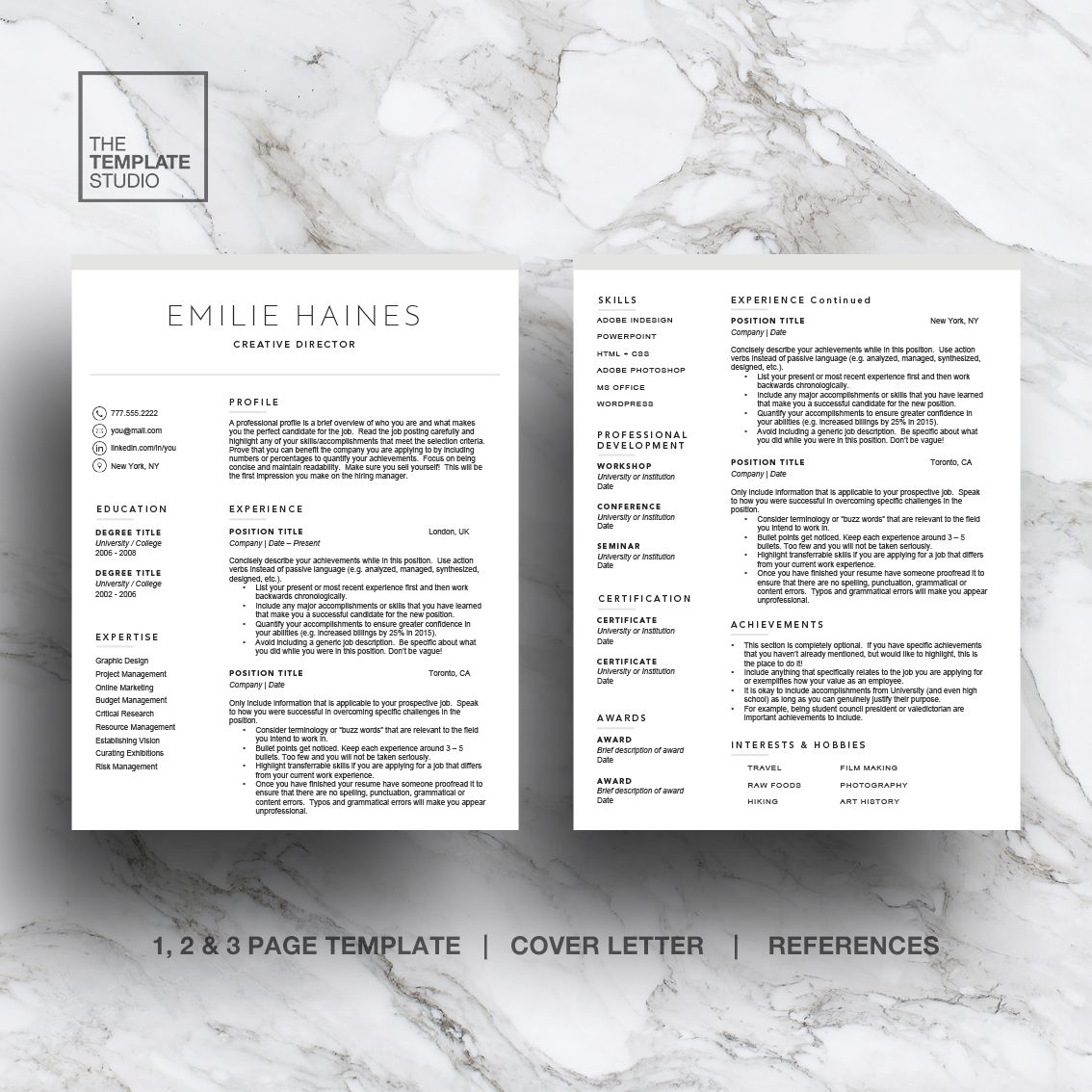 Minimal Resume Template For Word  Pages   And  Pages