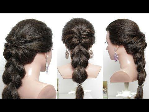 Beautiful Hairstyles For Function Easy Wedding Hairstyle Youtube Hair Styles Easy Hairstyles For Long Hair Womens Hairstyles