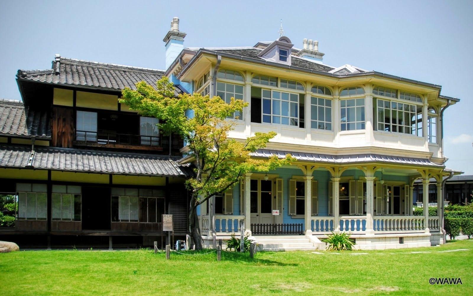 六華苑 旧諸戸家住宅 三重県桑名市 和館1912年 洋館1913年
