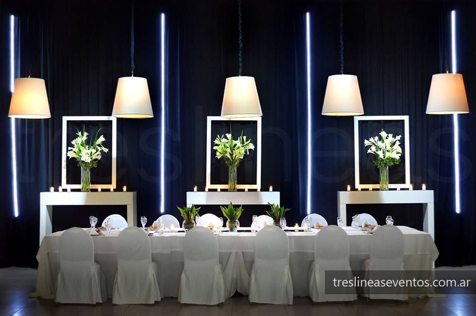 Ambientación Mesa principal Moderno + Elegante Decoración en