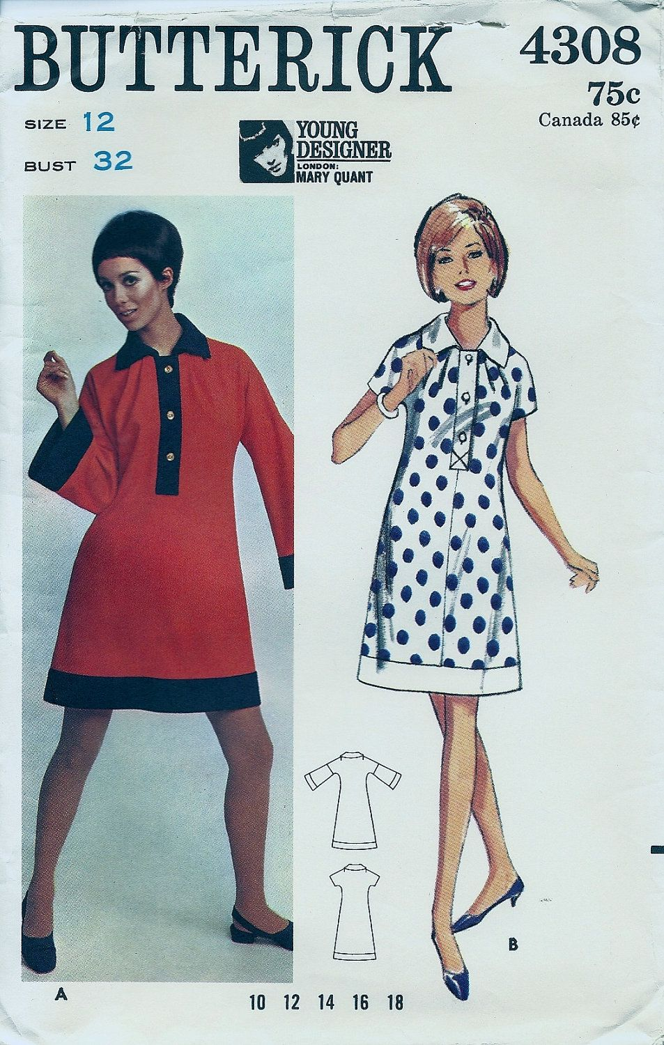 Items Similar To Mary Quant Design Dress Pattern Erick 4308 Size 12 On Etsy