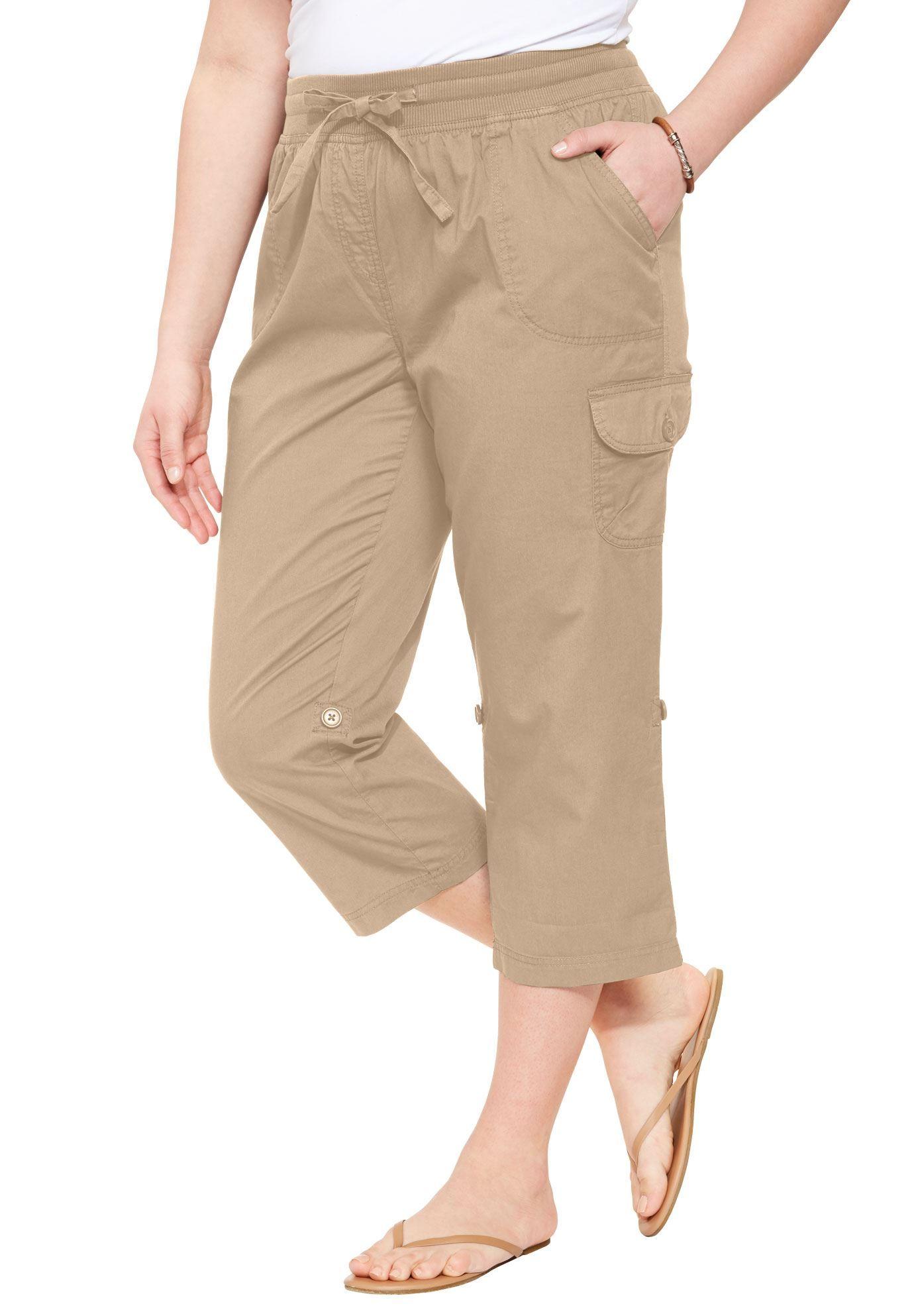 Pants, Capri Style in Convertible Lengths - Women\'s Plus ...