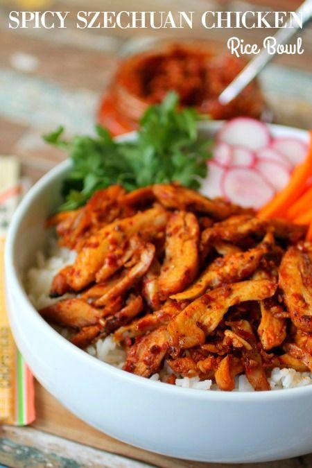 Spicy Szechuan Chicken Rice Bowls #ChooseNexium24HR ad