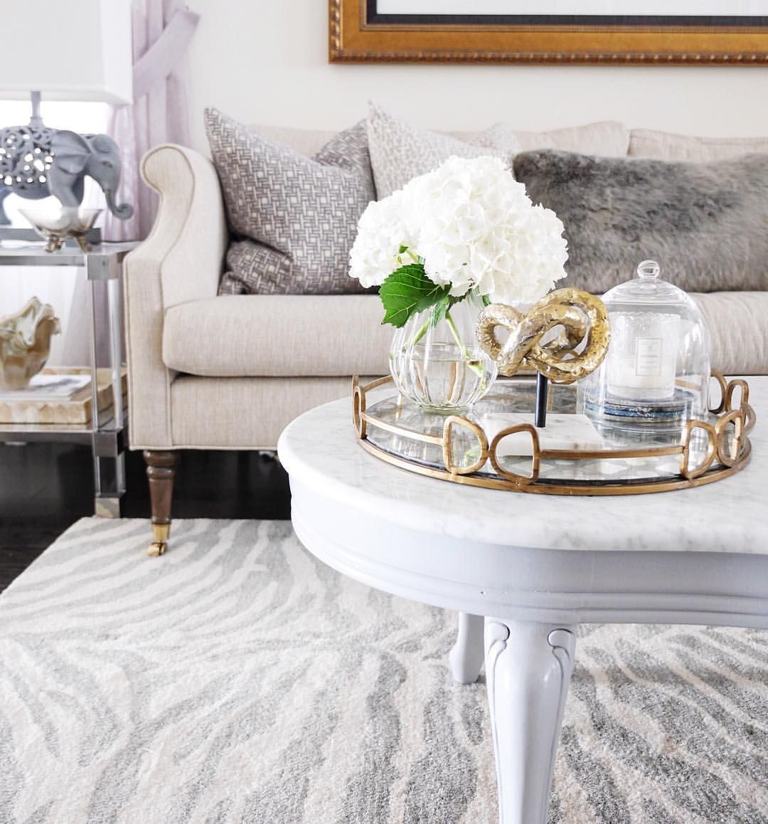 Living Room Family Room Coffee Table Styling Marble Coffee Table Sarah Richardson Couch Sof Modern Furniture Living Room Coffee Table Decor Tray Sofa Decor [ 1158 x 1080 Pixel ]