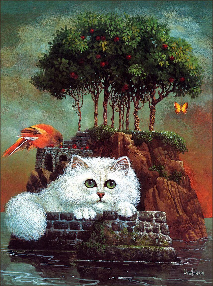 Cat Anticipating Not True Title Surreal Art Art Cat Art