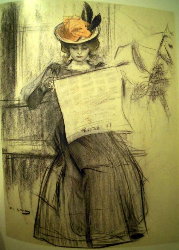 Ramon Casas i Carbó, A young Parisian woman, Ca. 188890