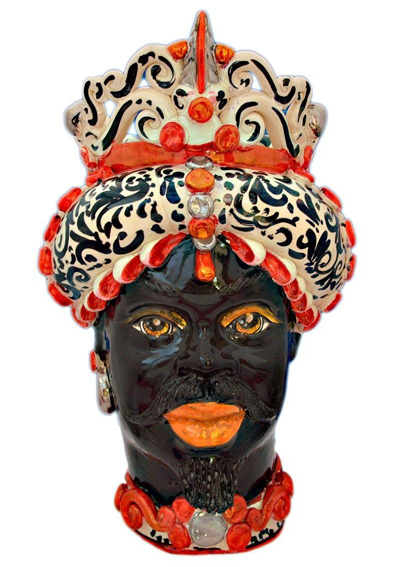Testa di moro bianca nero e rossa caltagirone sicilia for Arredamento artistico