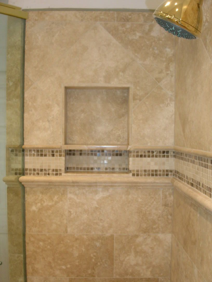 Shower tile inserts home design ideas and pictures marvelous bath shower doublecrazyfo Image collections
