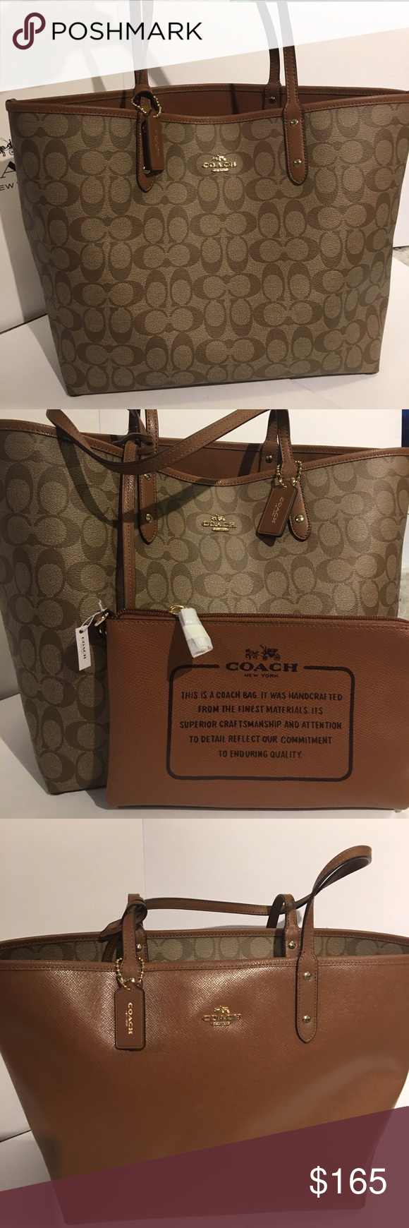 4ba339a950ba Coach Reversible Tote NWT, Comes with gift box, ask me for gift receipt! No  tradeGreat Christmas gift! Coach Bags Totes
