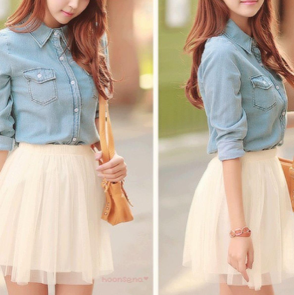 Pink dress with jean jacket  Jean with lace  Elegant Origins  Pinterest  Dress skirt
