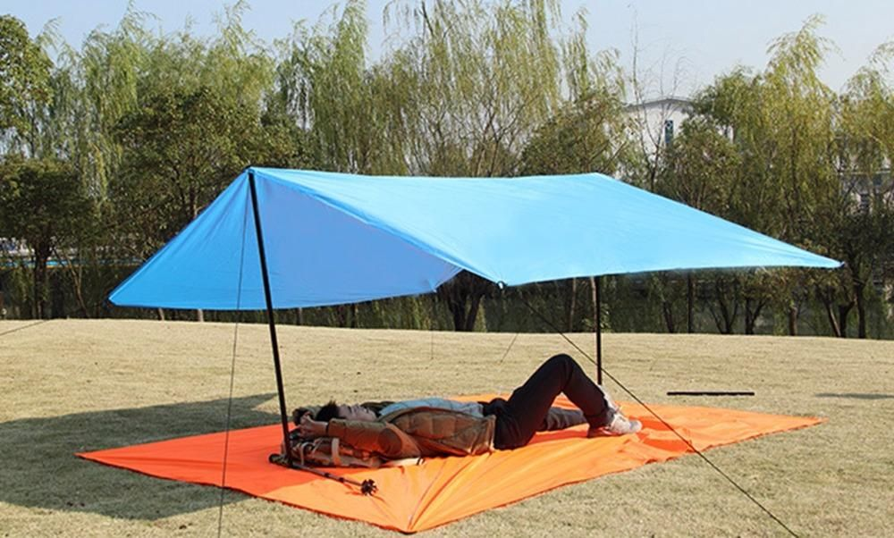 S 150cmx250cm With 6 Holes 260g M 220cmx300cm With 6 Holes 495g L 300cmx300cm With 6 Holes 600g The Price Is Only For The Roof No P Beach Tent Awning Canopy Tent