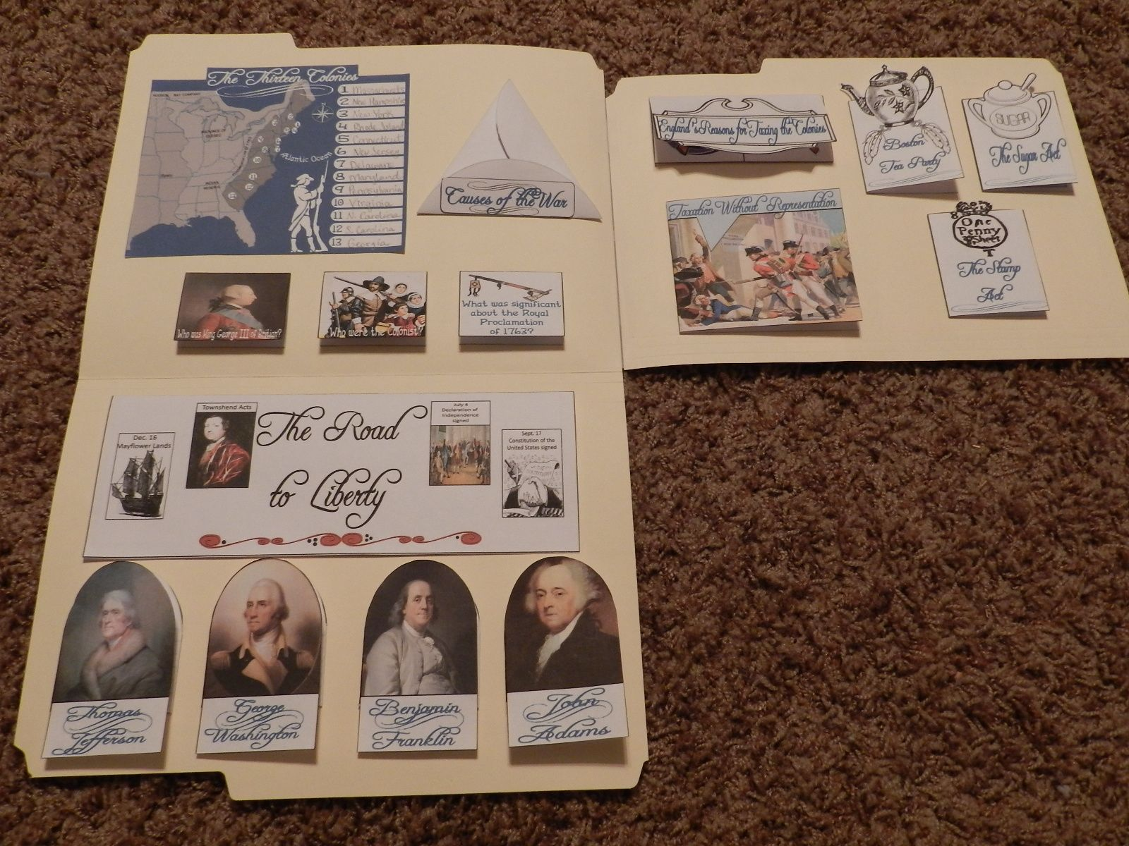 Great American Revolution Lapbook And Other Homeschool