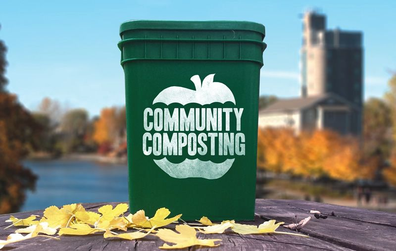 Community Composting provides branded 4-gallon containers to residential customers.