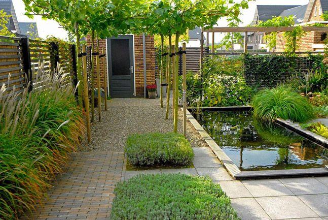 Tuin met strakke vijver green art moderne tuinen tuinontwerp