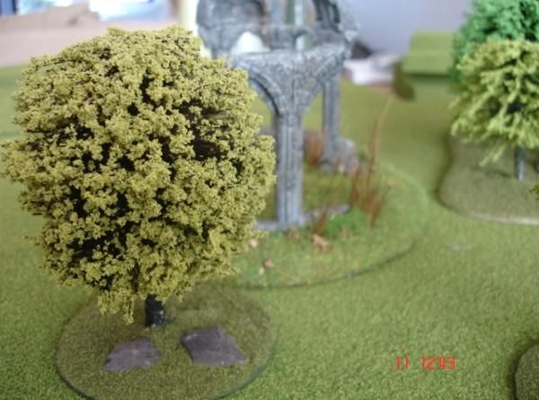 Easy wargaming trees from old push brooms.